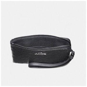Coach Bags - Coach Corner Zip Wristlet Charcoal Gray NWT